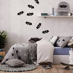 Superhero Grey Quilt Cover Set