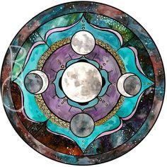 Super Moon Mandala - Spirit De La Lune Art Print - Elements - Moondala …