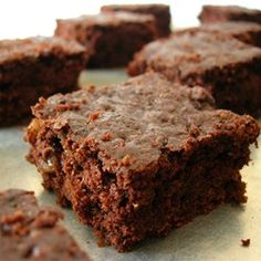 A chewy, fudgy, brownie that is easy to make. This is great because it uses things that you may already have on hand.