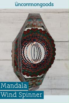 Mandala Wind Spinner Give this soothing piece to your favorite yogi or friend with a calming presenc Wind Spinners, Garden Crafts, Diy Garden Decor, Garden Ideas, Carpenter Bee Trap, Bee Traps, Wind Sculptures, Diy Gifts For Friends, Rustic Gardens