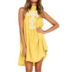 Dunacifa Women Dresses Irregular Hem Print Chiffon Ladies Dress Sleeveless Plus Size Mini Women Dress