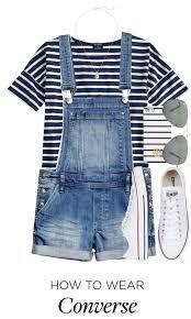 Cute outfit: White Converse Striped Phone Case Striped Tee-Shirt Cute Sunnies Blue Denim Overalls