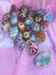 $35 each Hand painted porcelain eggs