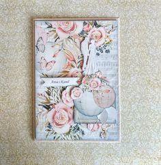 Unikaty Beaty: W siódmym niebie Book Journal, Paper Cards, Handmade Cards, Wedding Cards, Shabby Chic, Romance, Album, Weddings, Spring