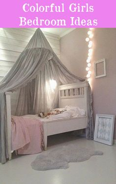 Girls Room Ideas: 40 Great Ways to Decorate a Young Girl's Bedroom. Little Girl Bedroom Ideas For Small Rooms My New Room, My Room, Daughters Room, Little Girl Rooms, Dream Bedroom, Bedroom Girls, Dream Rooms, Girls Princess Bedroom, Bedroom Themes