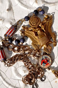 FOR LOVE of COUNTRY Patriotic Assemblage by HallowedAdornments