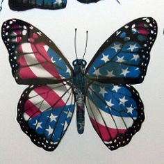 A Little Bit of Patti: Memorial Day Scrapbooking Layouts Blue Butterfly Tattoo, Butterfly Wallpaper, Patriotic Tattoos, Patriotic Symbols, Patriotic Crafts, Patriotic Decorations, Holiday Decorations, Patriotic Pictures, I Love America