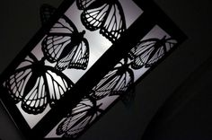 Cut Paper Luminaries - Black White Butterfly Wedding Centerpiece Decorations - Paper Lantern on Etsy, Butterfly Crafts, White Butterfly, Half Up Wedding, Trendy Wedding, Wedding Stuff, Paper Cutting, Cut Paper, Paper Art, Butterfly Wedding Theme