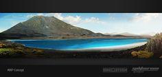 "Concept art new map ""Green Volcano"" 2  DinoStorm.com"