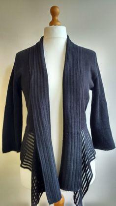 Linen cardigan, natural,black, linen blazer, linen shrug, linen and cotton, knitted linen, linen knitwear, linen clothing VandSHandmade Etsy by VandSHandmade on Etsy