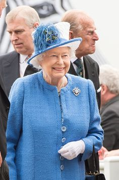 Queen Elizabeth II and Prince Philip, Duke of Edinburgh with Prince Andrew, Duke of York arrive at The Investec Derby Festival at Epsom Racecourse on June 4, 2016 in Epsom, England.