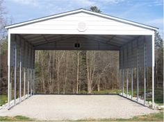 Bradley Mighty Steel RV Garage for sale, RV Shelter pricing Shed Floor Plans, Barn Plans, Rv Garage, Garage Plans, Carport Designs, Garage Design, Outdoor Buildings, Metal Buildings, Porch For Rv