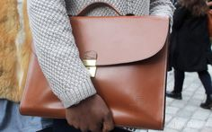 Street Style – Bags | individualism, Leather Case, Briefcase