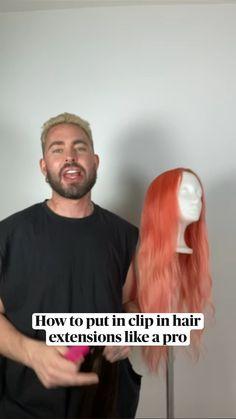 Messy Hairstyles, Pretty Hairstyles, Hair Inspo, Hair Inspiration, Curly Hair Styles, Natural Hair Styles, Aesthetic Hair, Clip In Hair Extensions, Hair Health