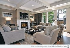 transitional decorating ideas | 15 Interesting Living Room Paint Ideas | Home Design Lover