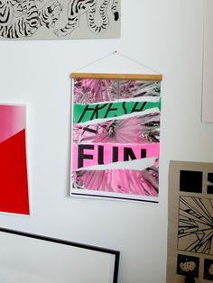 Nadia de Donno / Risography A3: 30 CHF fresh - fun - green - pink Chf, Gallery Wall, Graphic Design, Fresh, Pink, Home Decor, Handmade, Interior Design, Pink Hair
