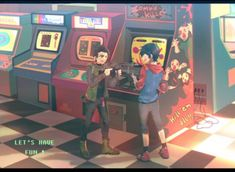 Damien and Jon have a date at game center