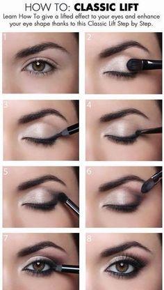 How To Give a Classic Lift To Your #Eyes. #Maquillaje de #ojos clásico Mucho más en www.rincondebelleza.com