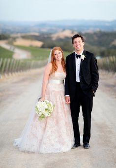 Bride in Strapless Lace Ball Gown   Photography: Elisabeth Millay Photography. Read More: http://www.insideweddings.com/weddings/romantic-neutral-hued-wedding-at-a-paso-robles-california-vineyard/585/