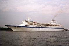 Royal Caribbean's first cruise ship, Song of Norway. She weighed in at 18,000 GRTs when she was launched, but was later enlarged to 23,000 GRTs. Allure of the Seas, Royal Caribbean's largest ship today, weighs 225,000 GRTs.