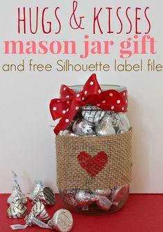 Valentine Mason Jar Gift