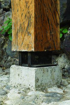 wood to ground detail   Poas Volcano Lodge, Costa Rica / Carazo Architects