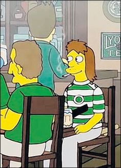 Even the Simpsons are celtic supporters