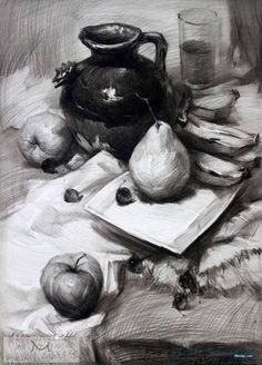 67 still life drawing ideas Still Life Sketch, Still Life Drawing, Still Life Art, Academic Drawing, Drawing Studies, Art Studies, Graphite Drawings, Pencil Art Drawings, Drawing Sketches