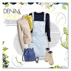 """Denim & Daisies"" by helleka ❤ liked on Polyvore featuring Jason Wu, MSGM, TIBI, Maison Margiela, Carven, Laurence Dacade and Kenneth Jay Lane"
