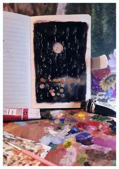 Art Challenge, 100th Day, Fine Art, Rain, Painting, Posts, Instagram, Rain Fall, Messages