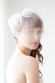 Polka Dot Blusher Veil by Sibo designs..
