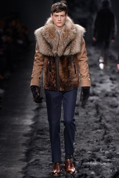 HAIRY TEXTURES: Fendi Men's RTW Fall 2014 [Photo by Davide Maestri]