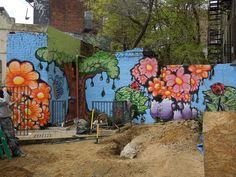 The painting portion of the backyard makeover at 1812 St Johns nears completion