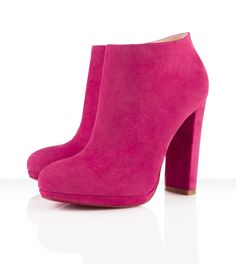 Christian Louboutin Rock and Gold 120mm Boots In Pivoine Suede 1