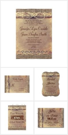 Rustic Country Vintage Burlap Wedding Invitations This wedding invitation collection features a rustic vintage distressed background with a burlap print design and twine bow printed design. These are great for rustic country weddings. Burlap Wedding Invitations, Vintage Wedding Invitations, Wedding Invitation Wording, Wedding Programs, Wedding Venues, Invitation Ideas, Shower Invitations, Destination Wedding, Maui