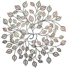 CONTEMPORARY 'AUTUMN LEAVES' METAL WALL ART