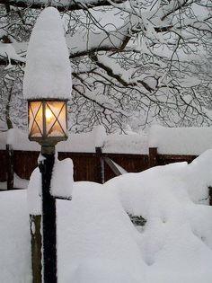 "Lantern with ""Snow Hat"""