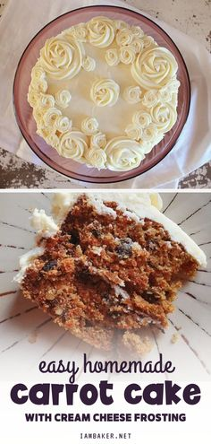 A homemade carrot cake from scratch that is sure to impress! This is a real carrot cake made with real ingredients and is bursting with flavor and moisture. It is the perfect dessert for any celebration. Save this pin for later! Elegant Desserts, Beautiful Desserts, Fancy Desserts, Just Desserts, Homemade Carrot Cake, Best Carrot Cake, Cream Cheese Recipes, Cake With Cream Cheese, Easy Impressive Dessert