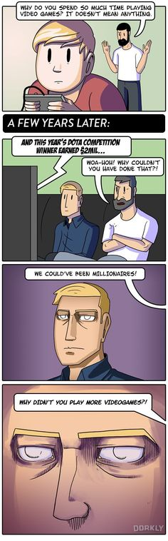 Julia Lepetit from Dorkly illustrates one of the good reasons why we're not all pro gamers.    [Source: Dorkly]