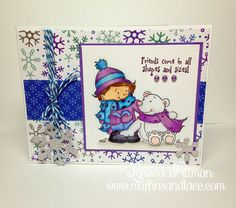 Designed by Larissa Pittman of Muffins and Lace using Kraftin Kimmie stamp Snow Much Fun