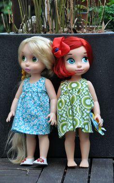 Rapunzel & Ariel in their thelittleredmamahen dresses   Flickr - Photo Sharing!