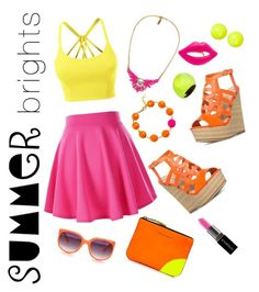 """""""Summer Brights Contest Entry"""" by skylar-j-ramsay ❤ liked on Polyvore featuring LE3NO, Alexis Bittar, Anna Lou, CC SKYE, Smashbox and Comme des Garçons"""