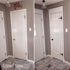 Stylish DIY Ways To Update Interior Doors The Creek Line . Front Door Makeover Before And After DIY Inspired. How Not To Make Saloon Doors For The Home Swinging . Home and Family Home Renovation, Home Remodeling, Diy Interior Doors, Interior Design, Closet Door Makeover, Closet Doors, Cupboard Doors Makeover, Door Redo, Room Closet