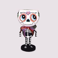 KATHERINE'S COLLECTION DAY OF THE DEAD CANDY CONTAINER 21″ tall  $66.00