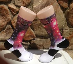 Starry Night  Galaxy XTREME Glow In The Dark  Nike Elite Socks  Free Shipping