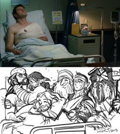 Haha! If anyone is curious that is from the BBC tv series strike back <--- I think that Fili and Kili would have gotten hurt the most since *cough* *cough* that happens and then Thorin