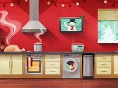 Part of an interactive Christmas kitchen soon to be launched