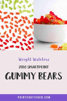 Looking for zero point candy? Then try these easy to make sugar free gummy bears. Just 3 ingredients and zero smartpoints on Weight Watchers Blue, Purple and Green plans. A tasty WW dessert recipe. #weightwatcherssnacks #weightwatchersrecipeswithpoints #zerosmartpoints #wwsnackrecipes Weight Watchers Plan, Weight Watchers Chicken, Weight Watchers Desserts, Sour Gummy Bears, Sugar Free Gummy Bears, Ww Desserts, Dessert Recipes, Ww Recipes, 3 Ingredients