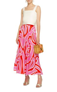 Printed Cotton and Silk-Blend Skirt by EMILIO PUCCI Now Available on Moda Operandi