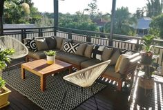 Mimosa Lounge - so easy to do here in Singapore, great to do indoor/outdoor , condo/landed house. Deck Furniture, Outdoor Furniture Sets, Indoor Outdoor, Outdoor Decor, Palm Beach, Fresco, Condo, Lounge, Patio